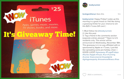 #FrugalFridays – $25 i-Tunes Gift Card Instagram Giveaway!