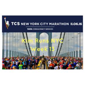NYC Marathon Training Recap Week 13
