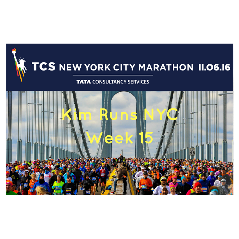 NYC MARATHON TRAINING RECAP WEEK 15