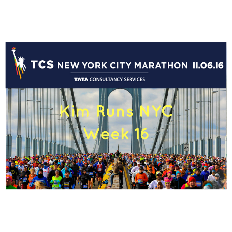 NYC MARATHON TRAINING RECAP WEEK 16