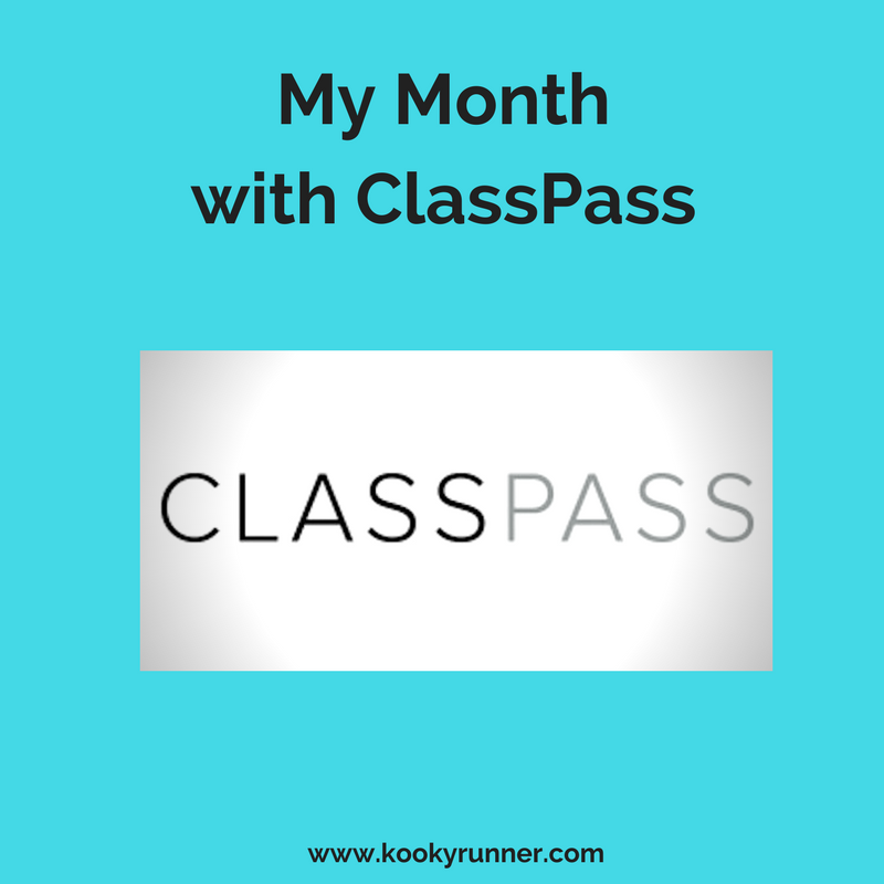 My Month with Classpass