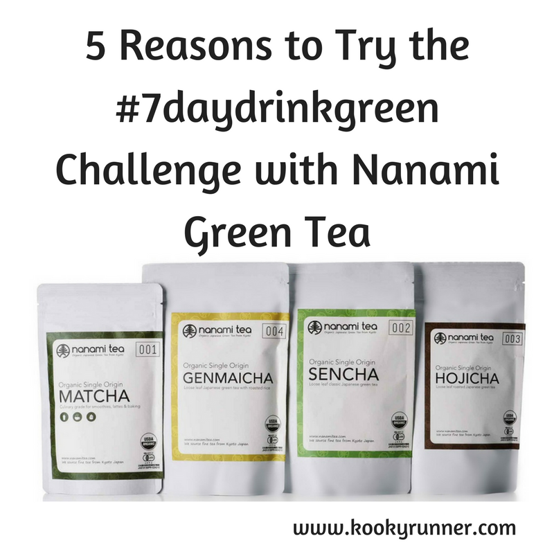 5 Reasons to Try the #7daydrinkgreen Challenge with Nanami Green Tea + Giveaway!