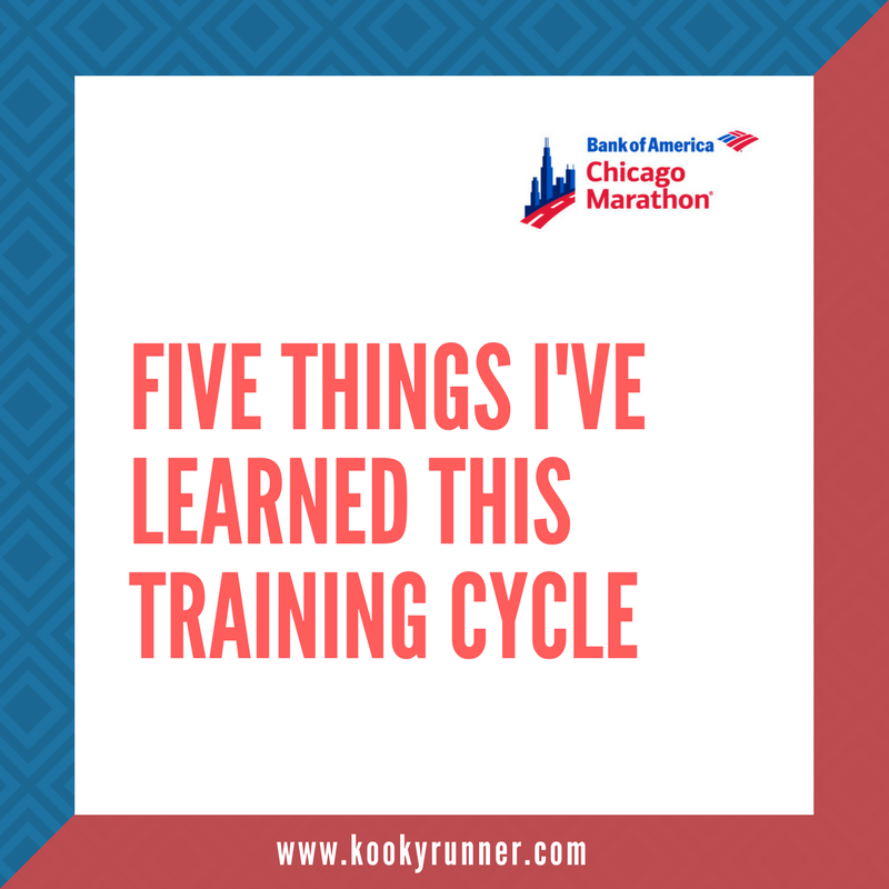 5 Things I've Learned This Training Cycle