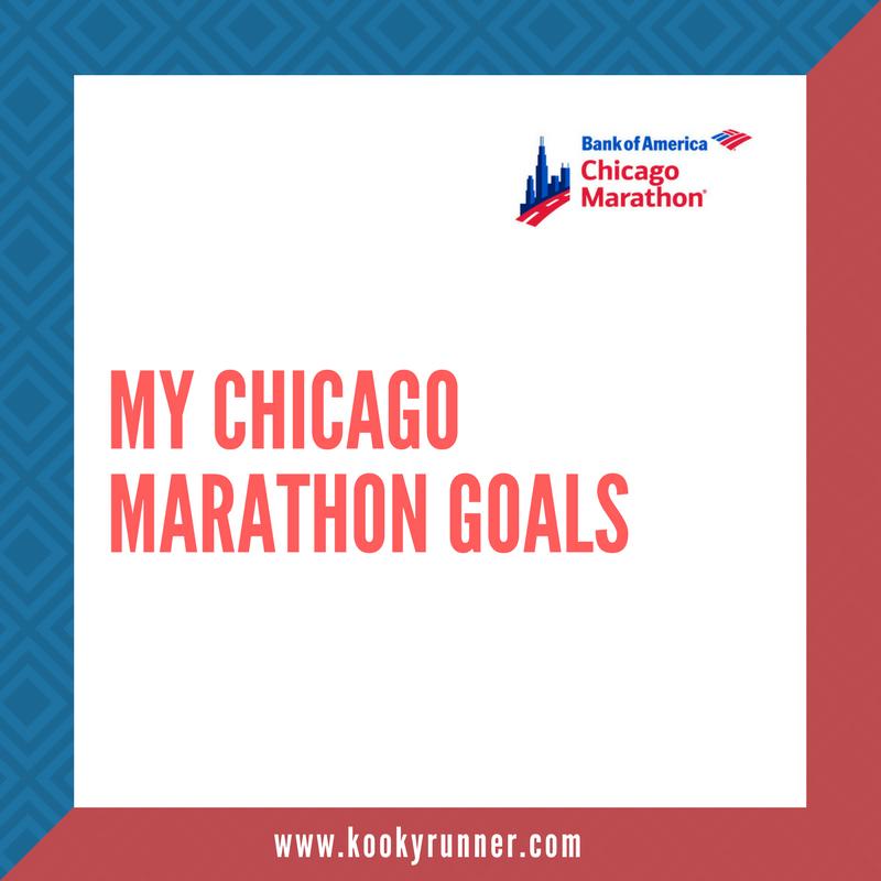 My Chicago Marathon Goals